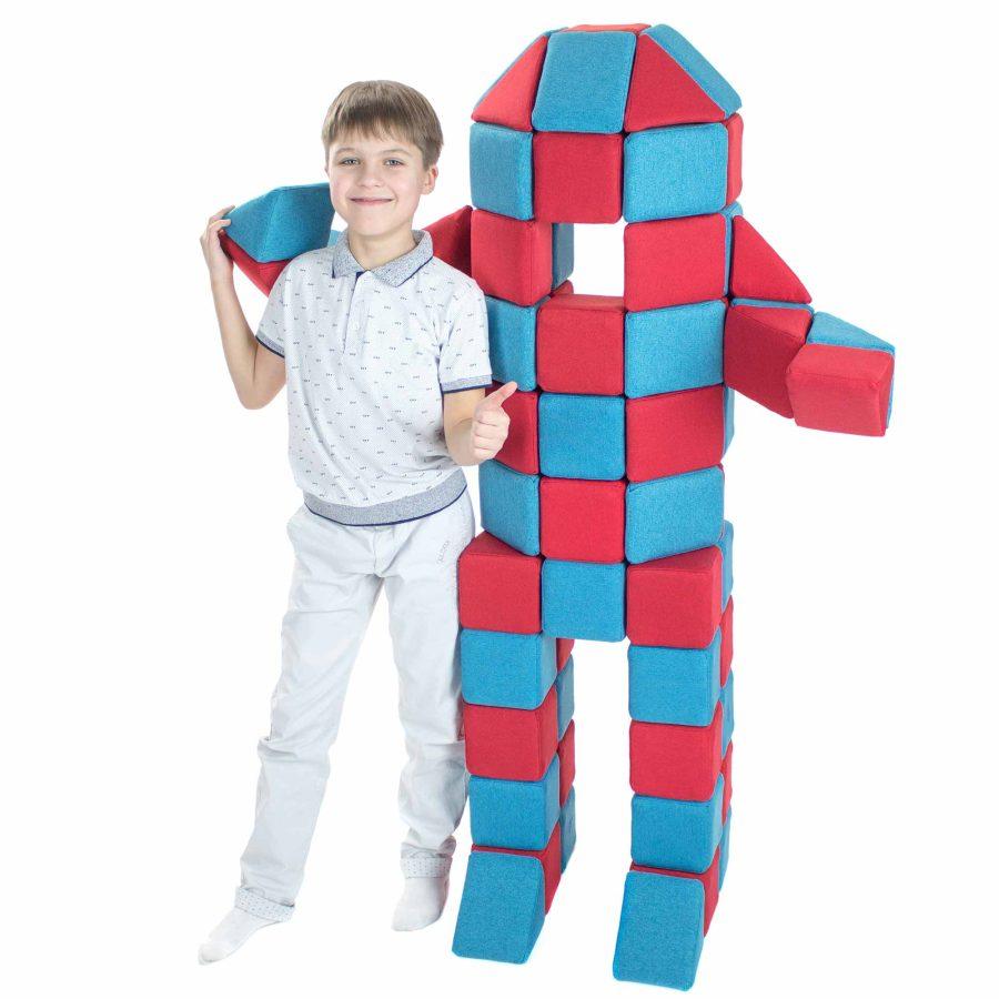 Mega Robot MEGA BOT - miękki, magnetyczny robot JollyHeap-kreatywna, dydaktyczna zabawka - sala zabaw, szkoła, przedszkole.